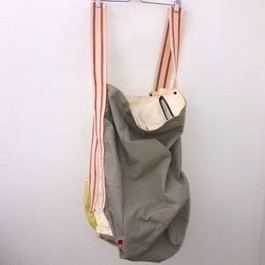 West Elm Large Laundry bag gray and yellow